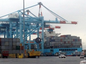APM Terminals' container cranes at Port Elizabeth, NJ