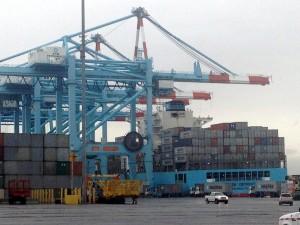 APM Terminals' container cranes at Port Elizabeth, NJ