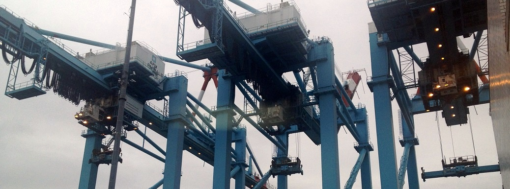 APM Terminals Cargo Cranes in Port Elizabeth, NJ
